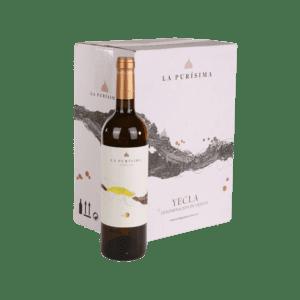 La Purisma fles en doos witte wijn