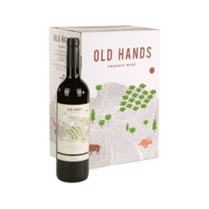 Old Hands Rode Wijn Doos