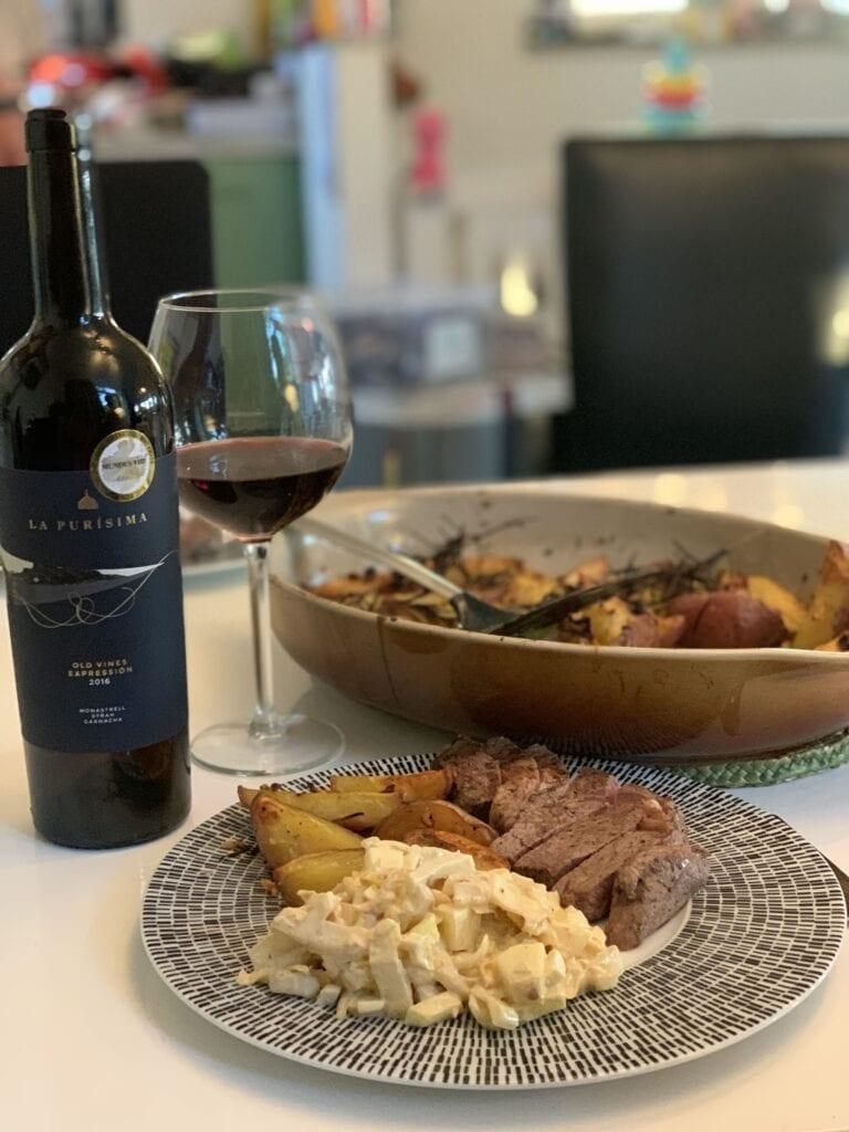 Gerecht bij heerlijke wijn La Purisima Old Vines Expression